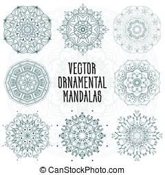 Set of ornamental mandalas