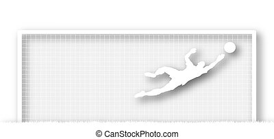 Goalkeeper - Illustration of a soccer goalkeeper making a...