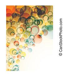 bubble float orange