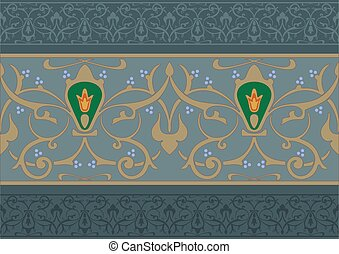 Arabic floral ornament - Arabic floral pattern in the form...