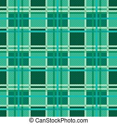 Seamless checkered pattern in Emerald - Seamless checkered...
