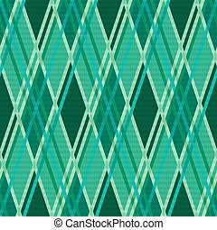 Seamless rhombic pattern in Emerald - Seamless rhombic...