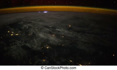 Planet Earth at night seen from ISS