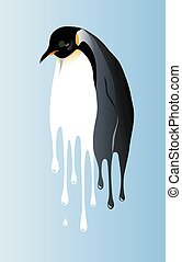 global warming penguin - Global warming may be a disaster...