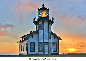 Point Cabrillo Lighthouse, Sunset - Sunset over Point...