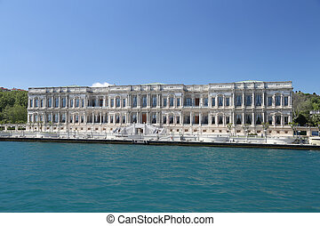 Ciragan Palace in Istanbul City, Turkey - Ciragan Palace in...