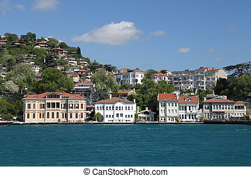 Buildings Istanbul City, Turkey - Buildings in Bosphorus...