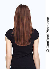 backview of woman in black
