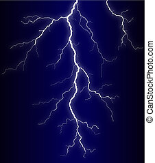 Lightning - Illustration of a lightning bolt at night
