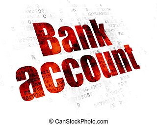 Money concept: Bank Account on Digital background - Money...
