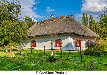 Traditional ukrainian rural cottage - Ancient traditional...