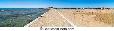 Island of currents in Sicily, Italy. panoramic photo - The...