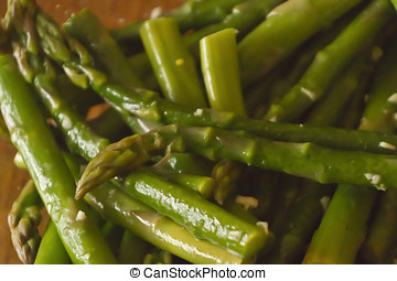 Sumptuous Asparagus Background - Close up of healthy and...