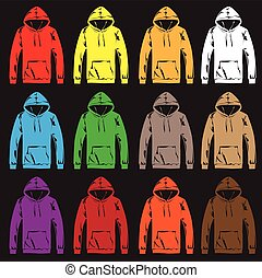 Hoodies T-Shirts. - Colourful hoodies t-shirts.