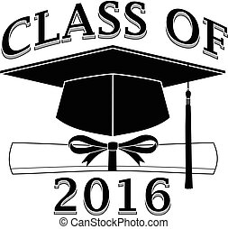 Class of 2016 - Graduate is an illustration of a design that...