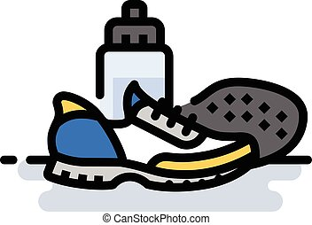 Running Shoes - A spot illustration of a pair of running...