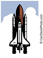 Space Shuttle - A stylized illustration of the space shuttle...