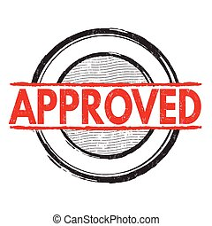 Approved grunge stamp - Approved grunge rubber stamp on...