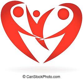 Heart family logo
