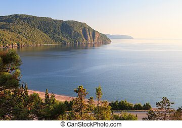Lake Superior - Old Woman Bay of Lake Superior in a sunny...