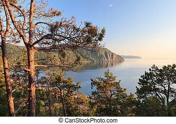 Lake Superior - Panoramic view of Old Woan Bay of the Lake...