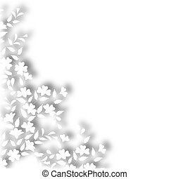 White plant border - Illustration of a white plant cutout...
