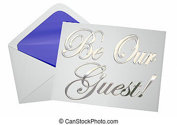 Be Our Guest Invitation Special Event 3d Words 3d...