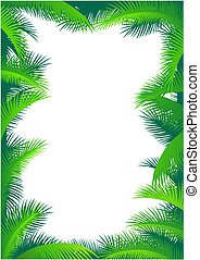Palm leaf border