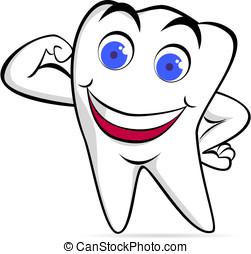 強い, 歯