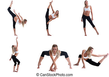 Photo collection of pretty girl engaged in pilates - Photo...
