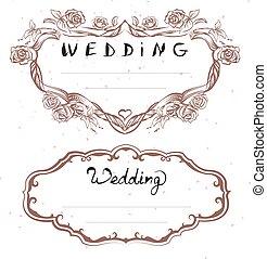 Wedding title. Floral Frame