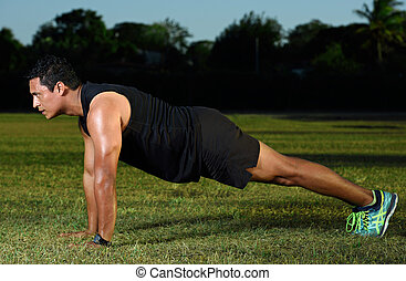 push up on park - sport msn doing push up on park green...
