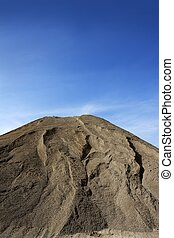 brown construction sand quarry mound - brown construction...