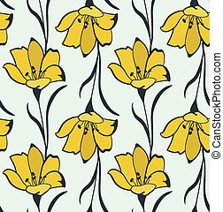 Seamless Flower Buttercup Pattern - Seamless Flower...