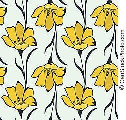 Seamless Flower Buttercup Pattern - Seamless Flower...