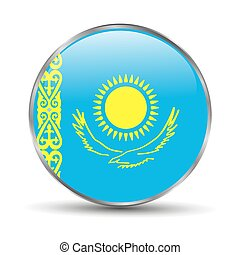 Kazakhstan Flag on a white background