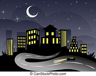 Night City and Road