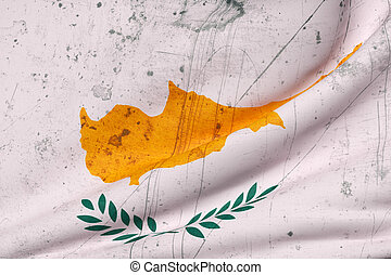 Cyprus flag - Illustration of a dirty Cyprus flag