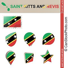Saint Kitts and Nevis Flag Set, Flag Set #129