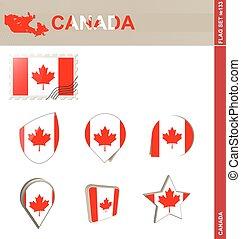 Canada Flag Set, Flag Set #133