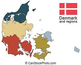 country Denmark and regions - european country Denmark and...