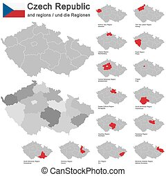 country Czech Republic and regions - european country Czech...