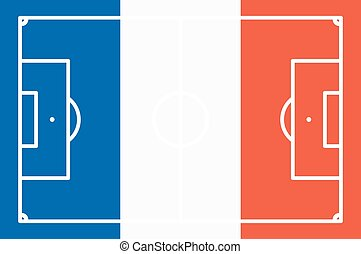 abstract soccer field with frace national colors - abstract...