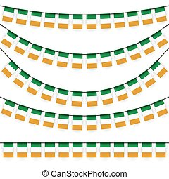 garlands with irish national colors - different garlands...