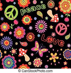 Hippie childish wallpaper