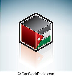 Jordan { Middle East } - Flag of Hashemite Kingdom of Jordan...