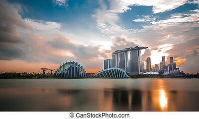 Marina Bay Sand and Garden by the b - Marina bay sand and...