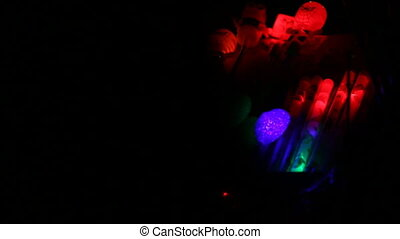 colorful flashing light on children's toys
