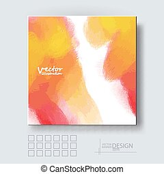 Brochure with Multicolored Blured Backgrounds - Business...