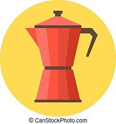 vector coffee moka pot